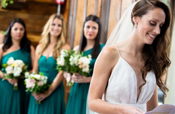 Carol Hannah Real Wedding - L'Elysee gown at Brooklyn Winery