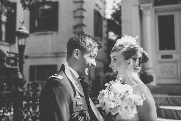 Carol Hannah real wedding - Mulberry gown - A Patriotic Wedding