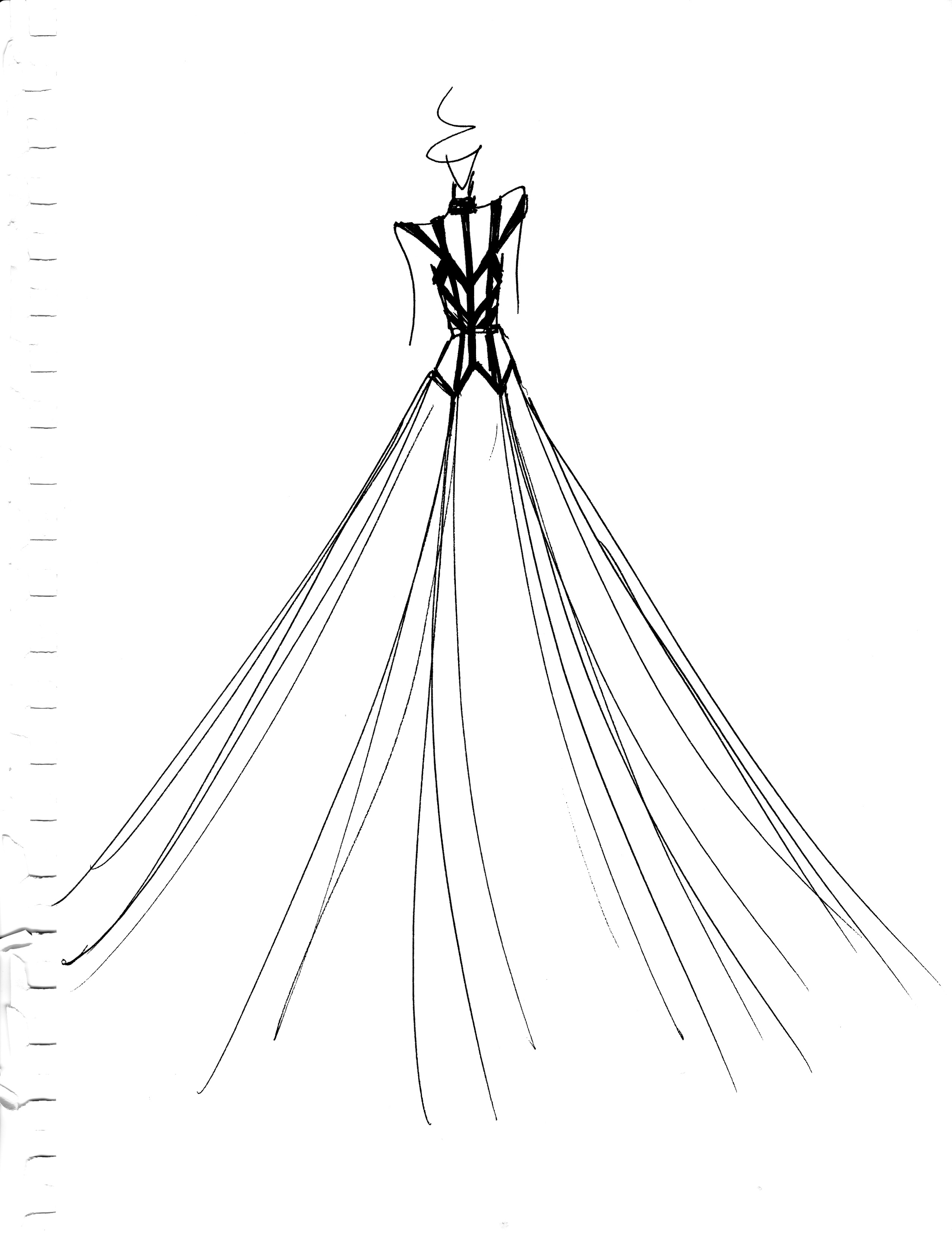 Carol Hannah custom sketch for Kelsea Ballerini
