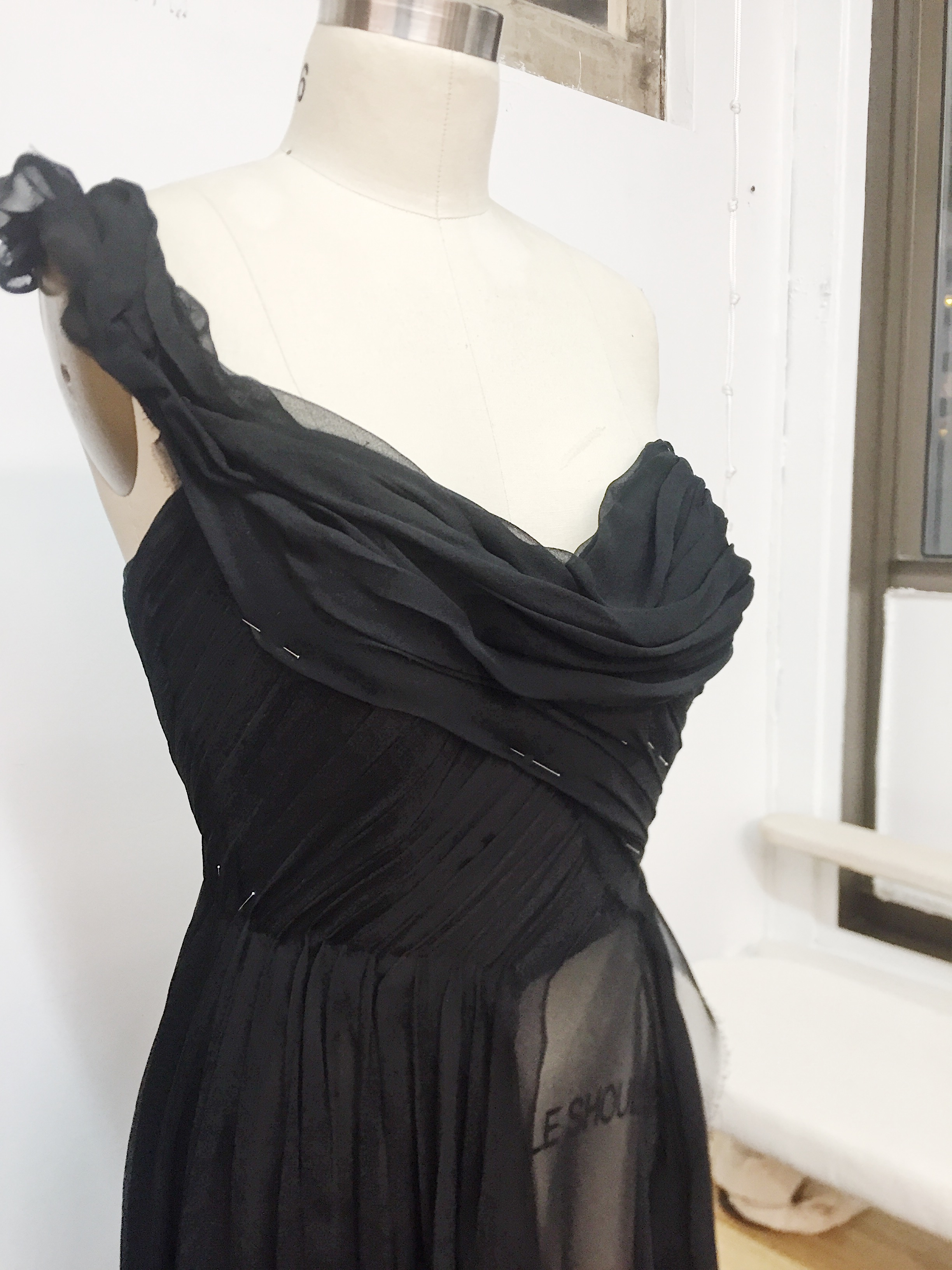 draping custom gown - Dierks Bentley Black video outfit