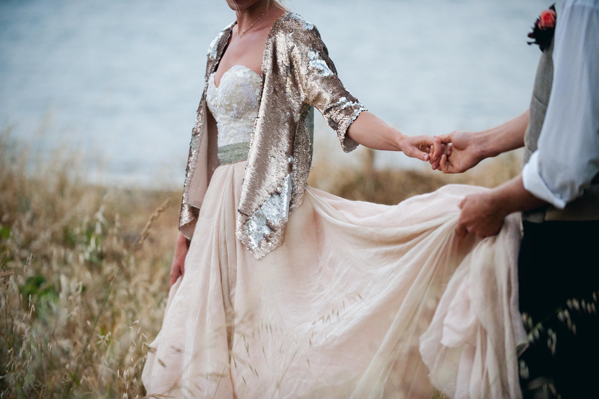 Carol Hannah Bridal Tritea, Kensington, Sequin Smoking Jacket Silver Linings Veil2005.jpg