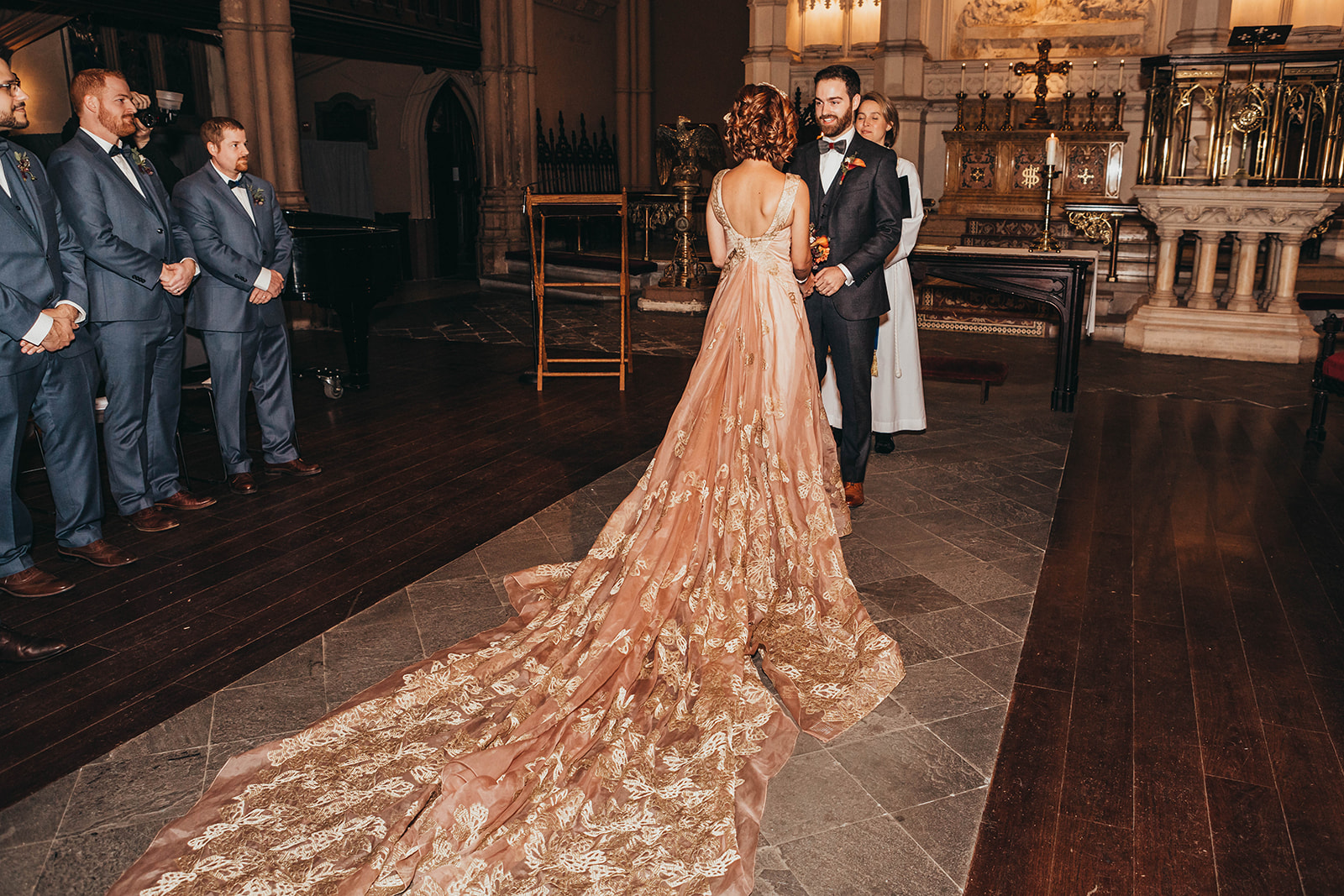 Blush, rose, gold wedding gown with butterflies, victorian bridal trend, nyc wedding gown designer-525.jpg