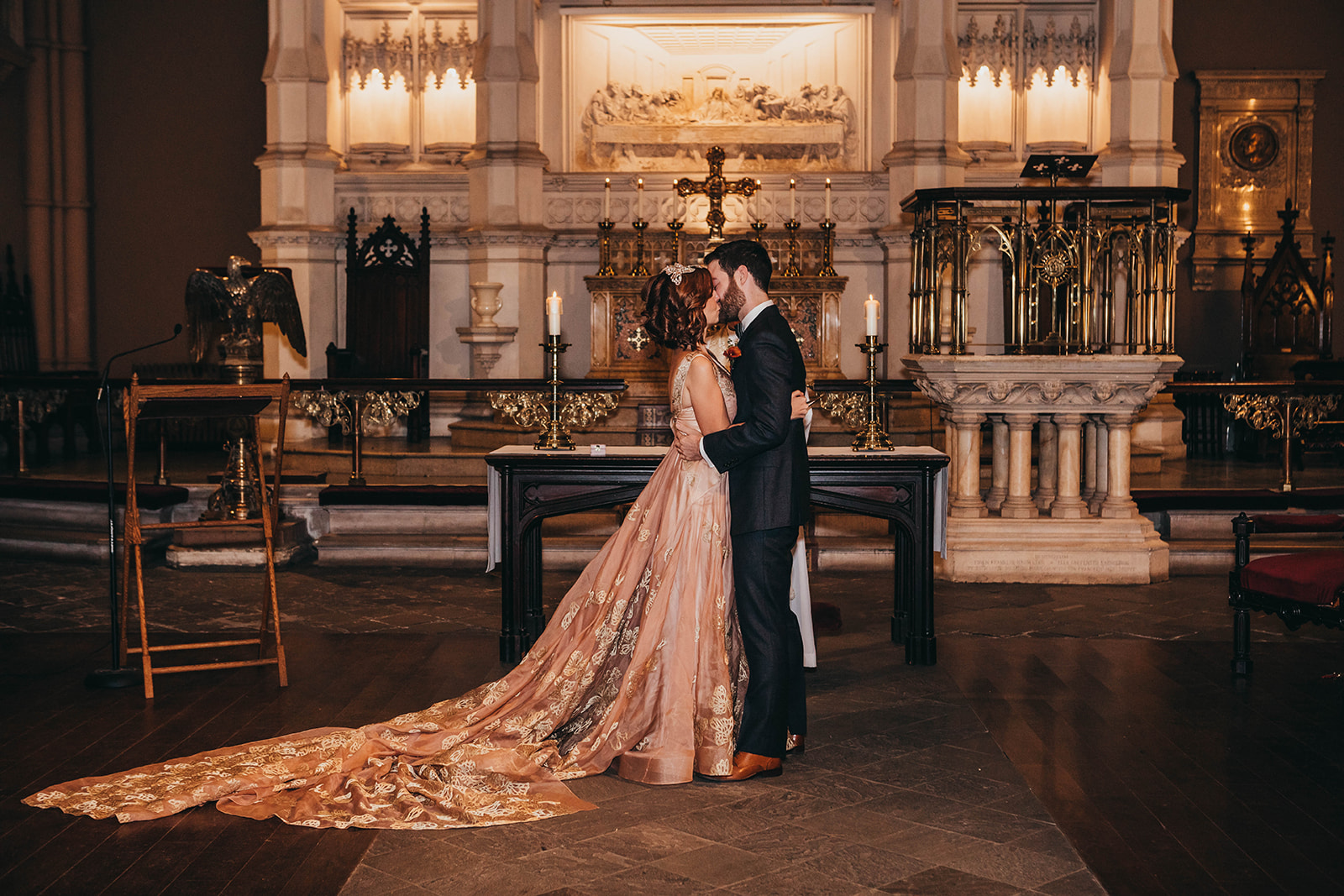 Blush, rose, gold wedding gown with butterflies, victorian bridal trend, nyc wedding gown designer-602.jpg
