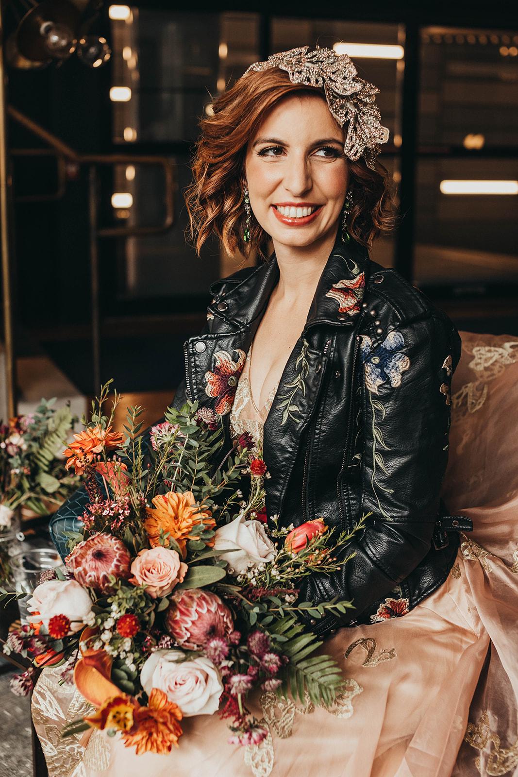 Blush, rose, gold wedding gown with butterflies, victorian bridal trend, nyc wedding gown designer24.jpg
