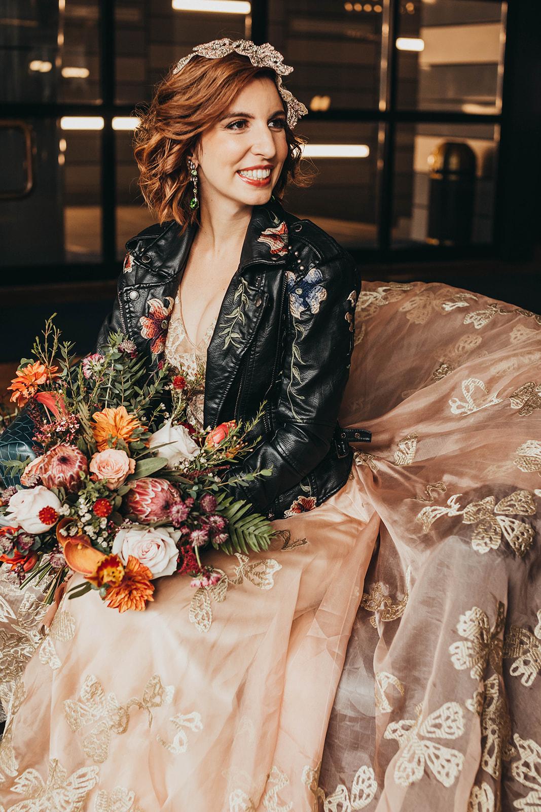 Blush, rose, gold wedding gown with butterflies, victorian bridal trend, nyc wedding gown designer30.jpg