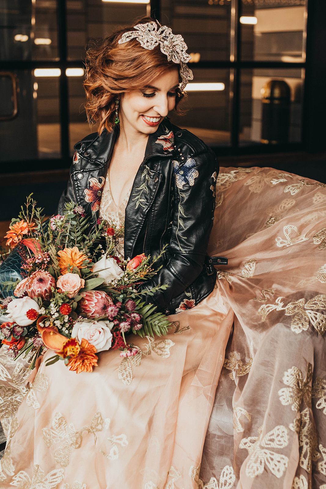 Blush, rose, gold wedding gown with butterflies, victorian bridal trend, nyc wedding gown designer31.jpg