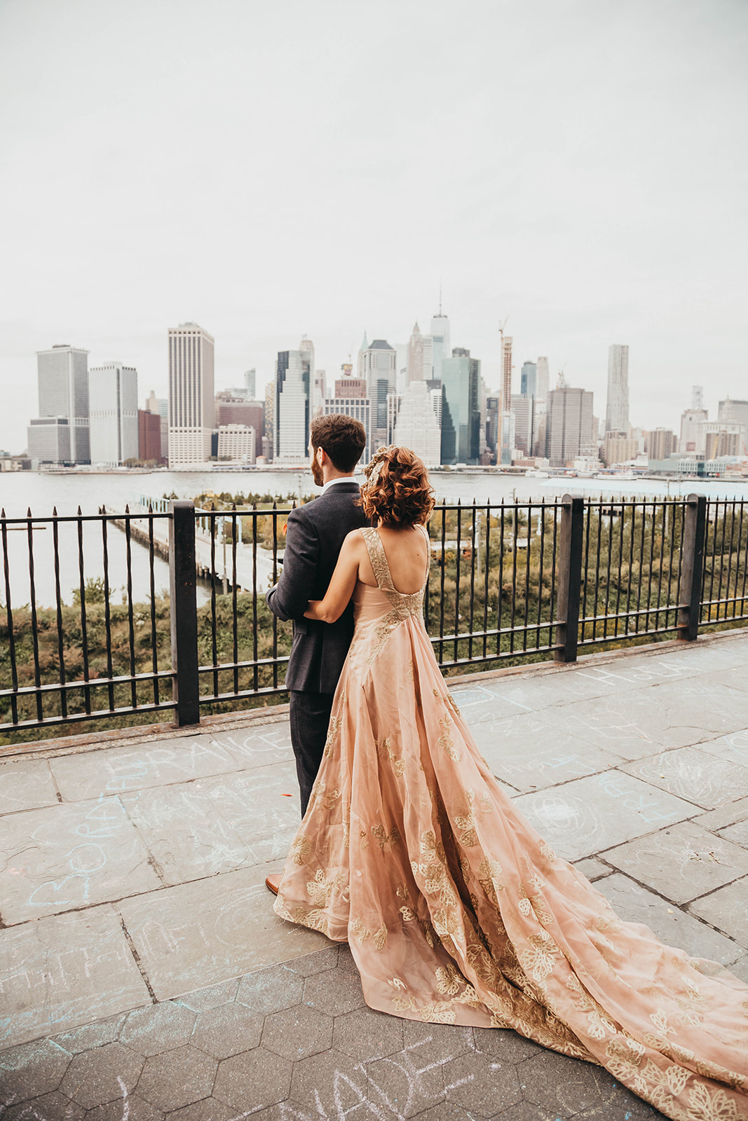 Blush, rose, gold wedding gown with butterflies, victorian bridal trend, nyc wedding gown designer53.jpg