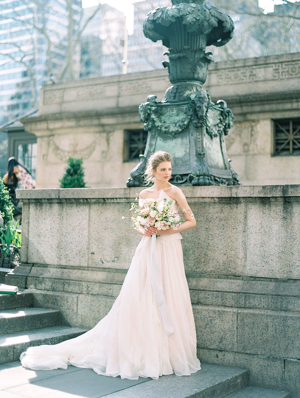 alla prima draped linen wedding gown at new york public library12.jpg