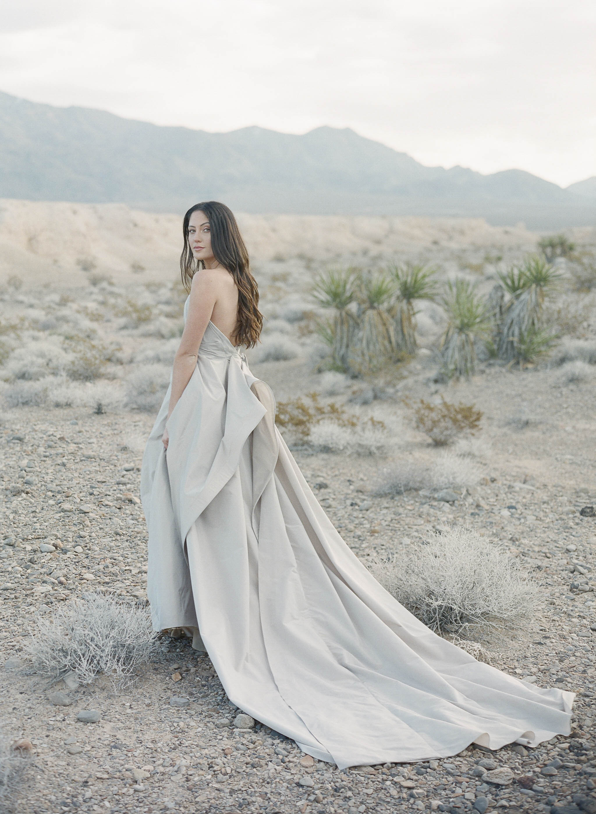 silver wedding gown with back drape 5.JPG