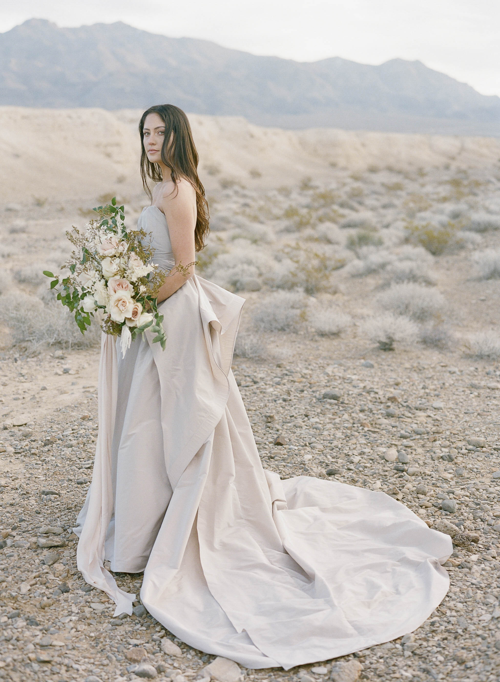 silver wedding gown with back drape 8.JPG