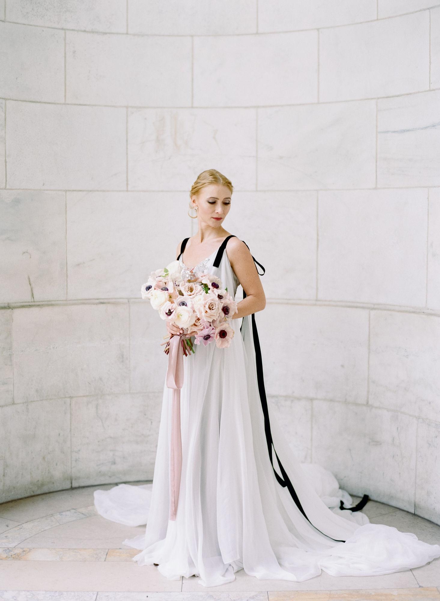 Soft flowy wedding gown black details3.JPG