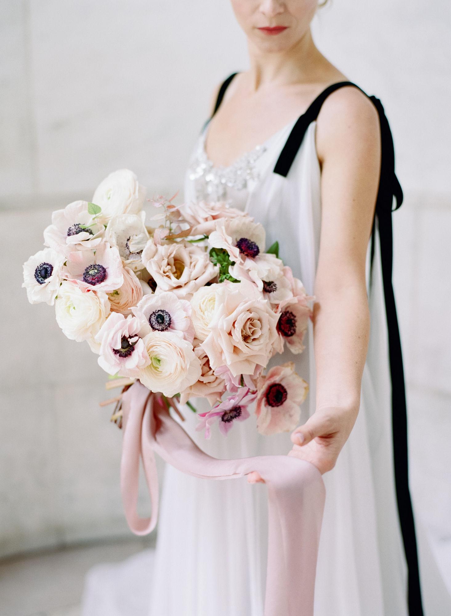 Soft flowy wedding gown black details4.JPG