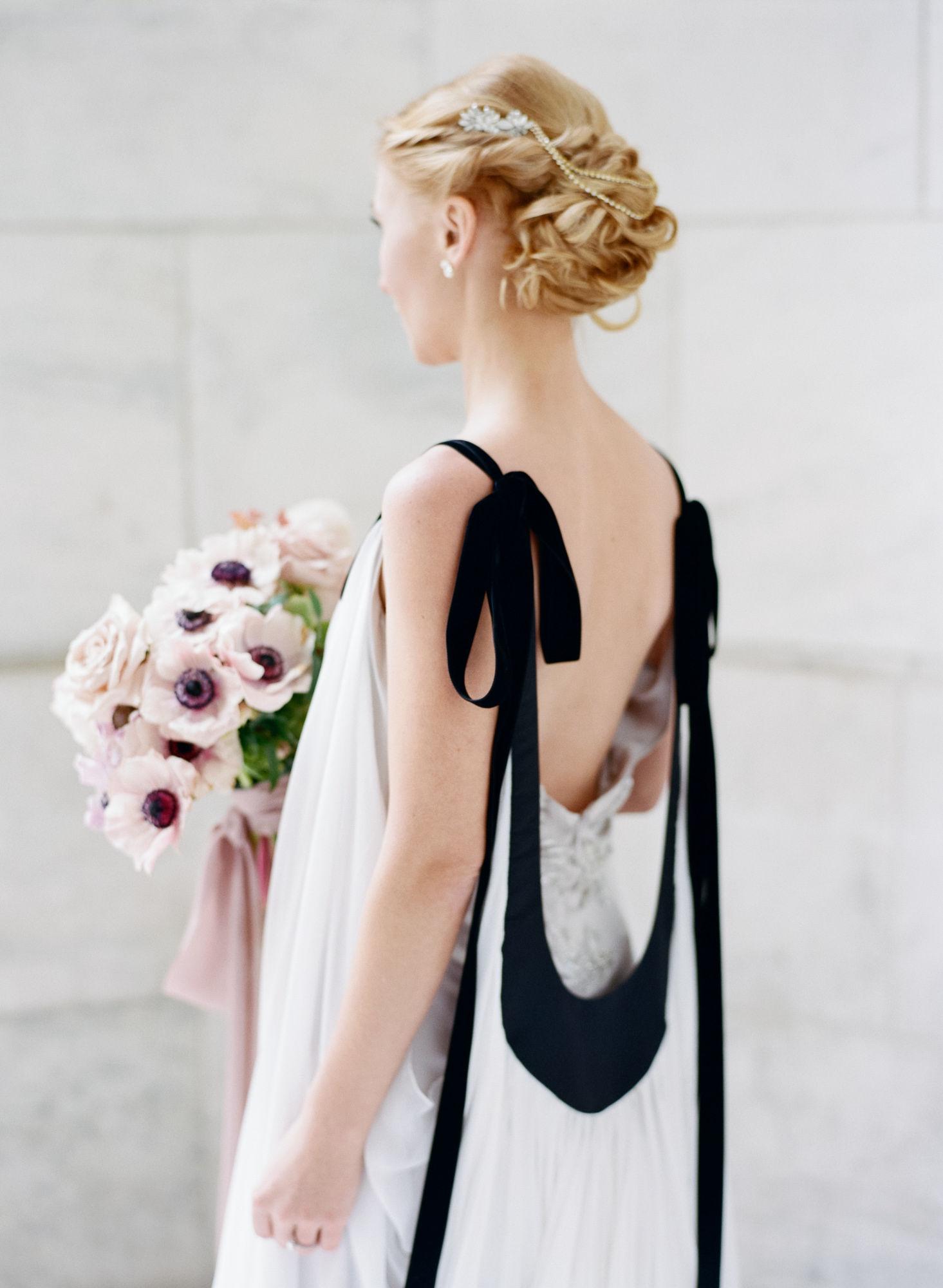Soft flowy wedding gown black details5.JPG