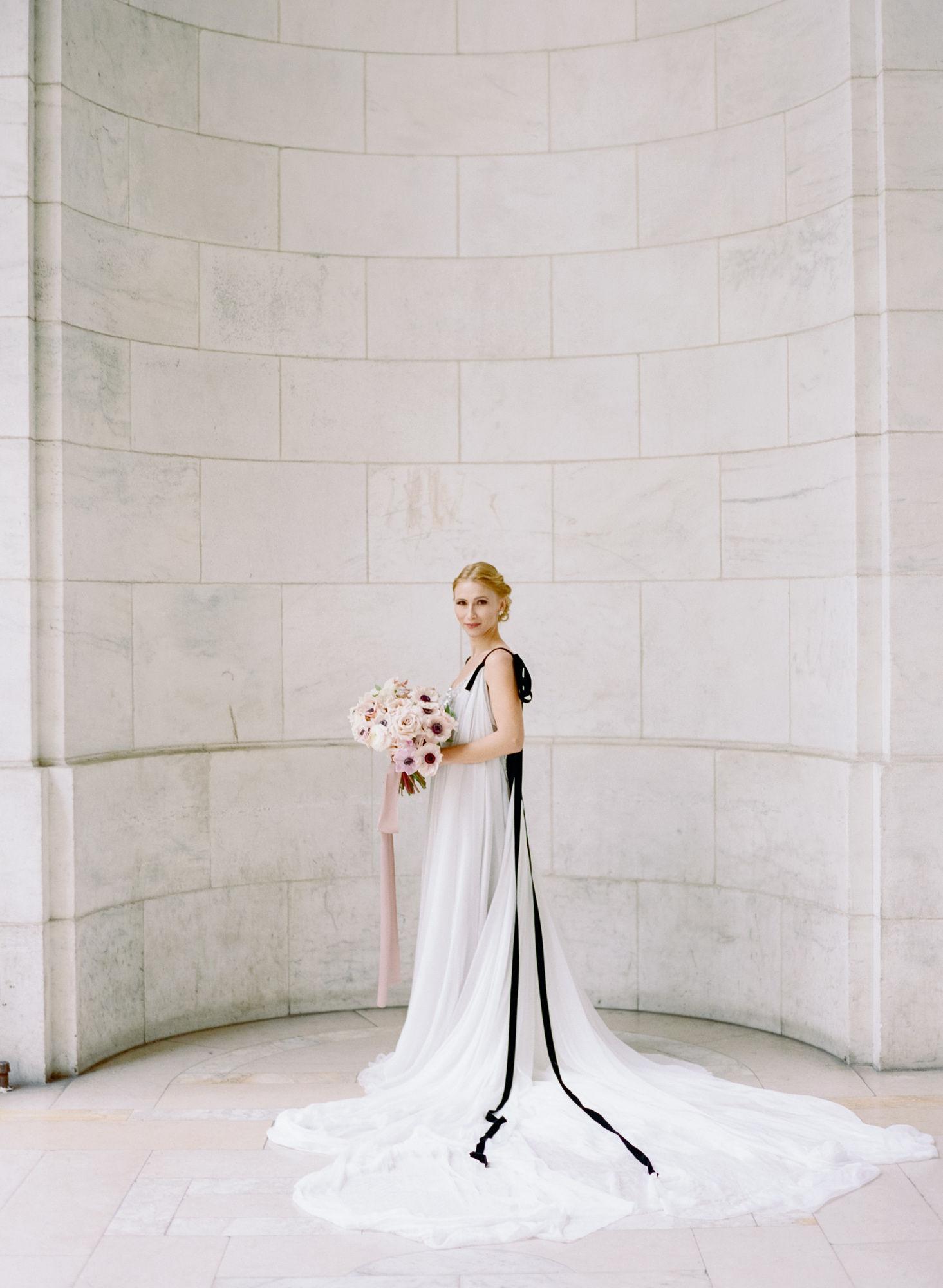 Soft flowy wedding gown black details7.JPG
