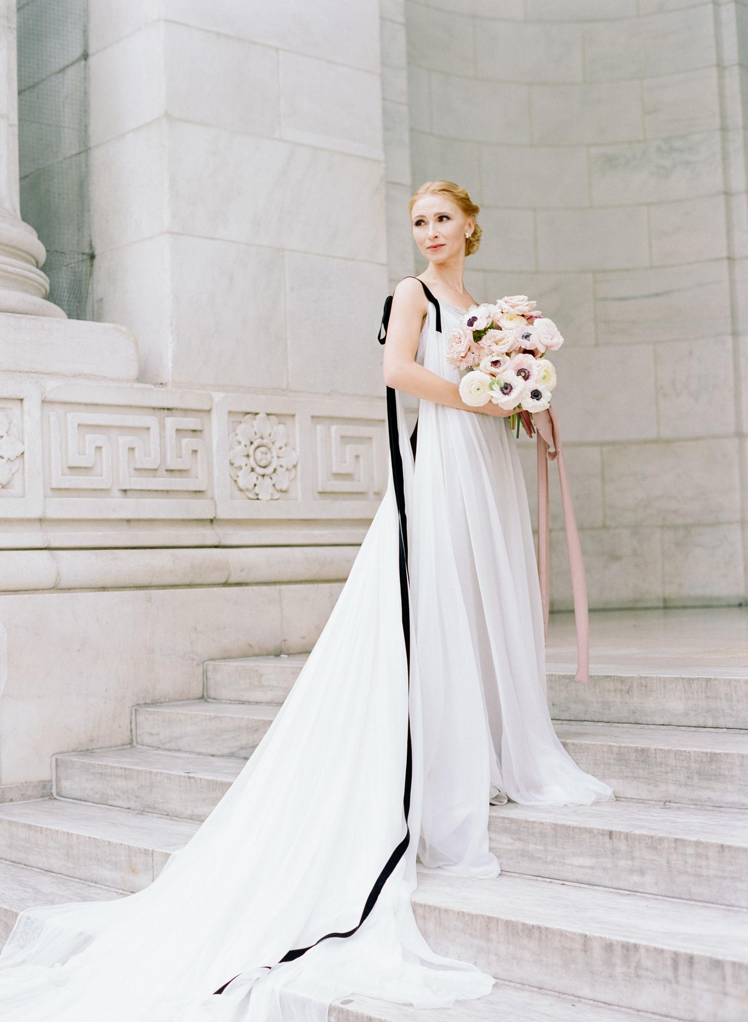 Soft flowy wedding gown black details14.JPG