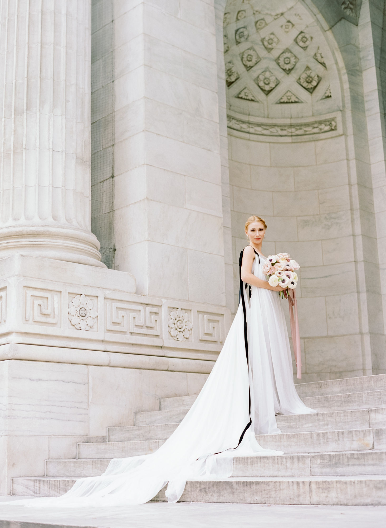 Soft flowy wedding gown black details13.JPG