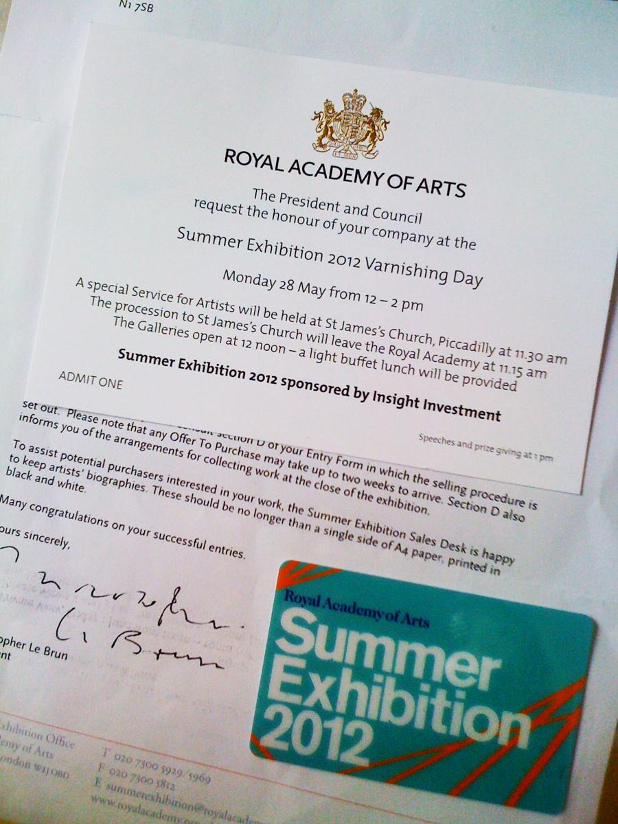 Royal Academy Invitation