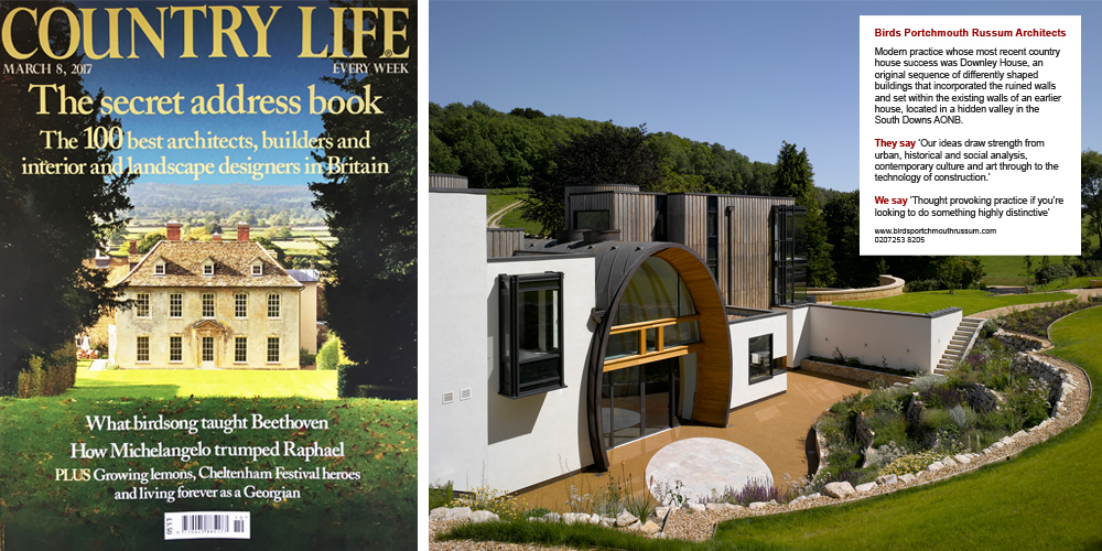 Country Life 100 best architects BPR Architects Downley House Hampshire