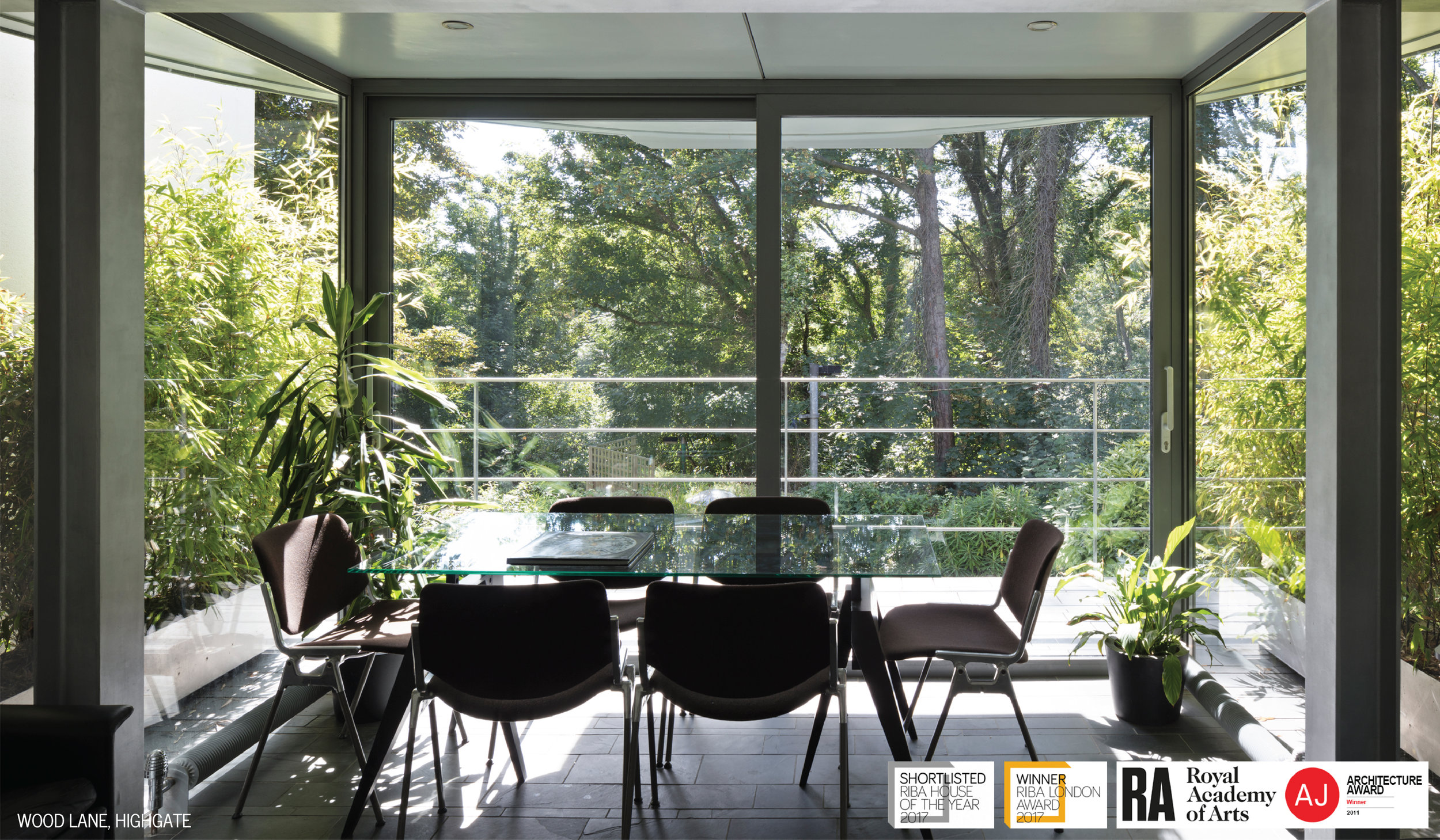 6 Wood Lane Office Garden View