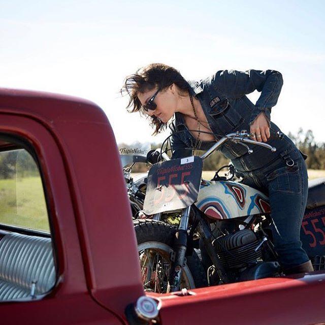 @triplenickel555  #americana #motorcycle