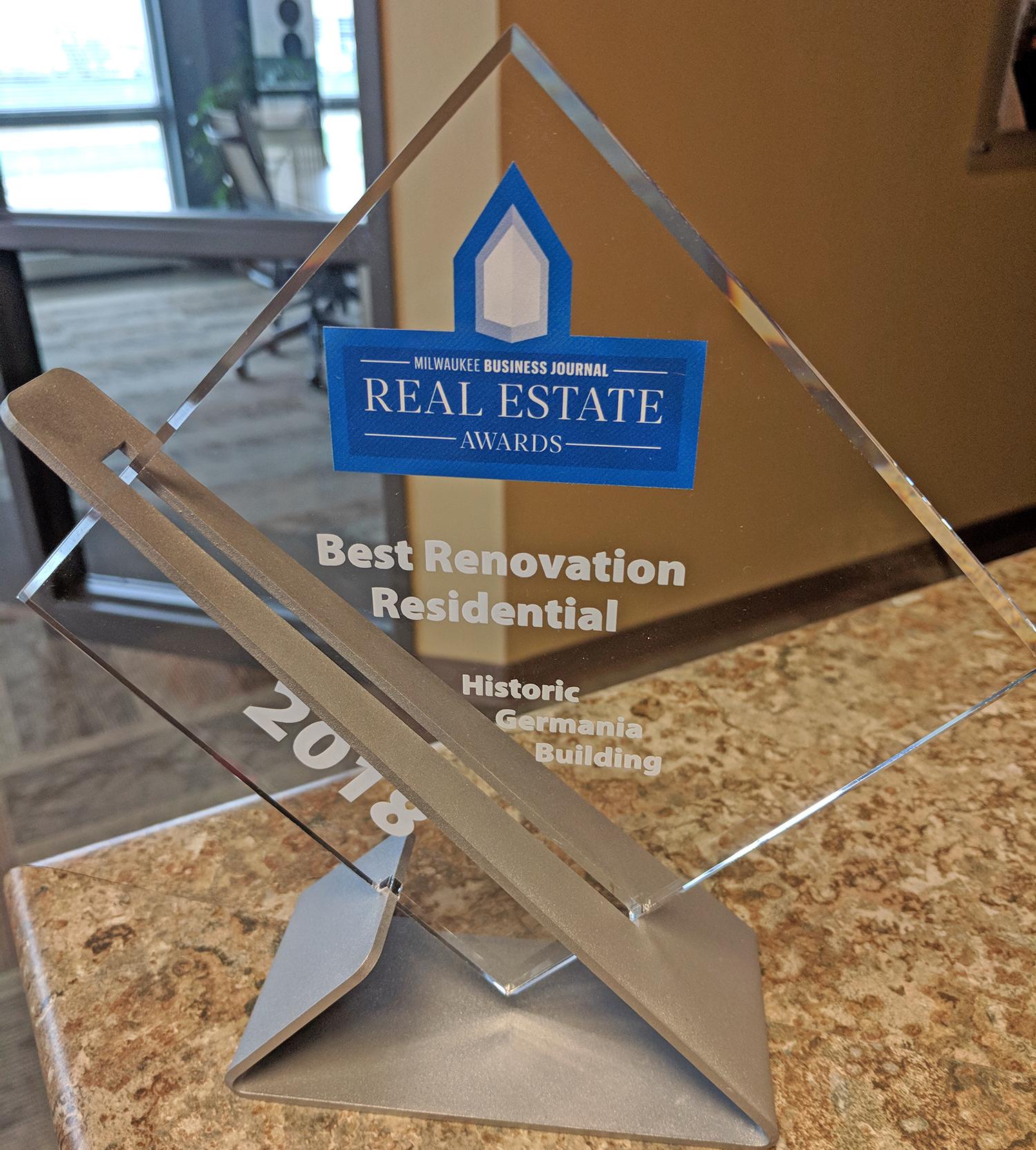 2018 Best Renovation Residential Award