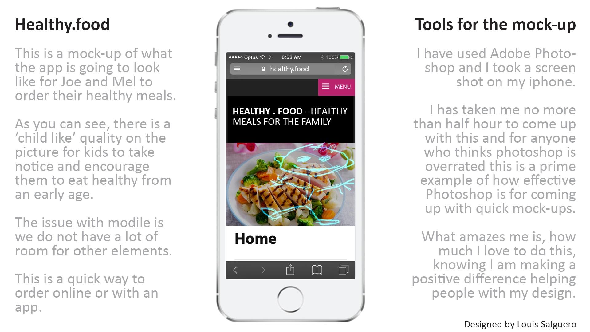The healthy.food app