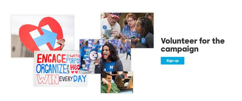 Hillary Volunteer UX