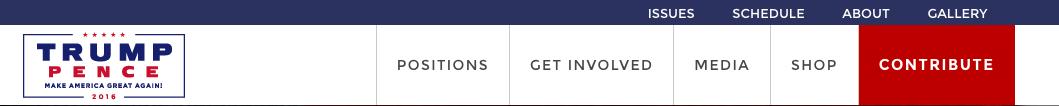 donald trump website navigation