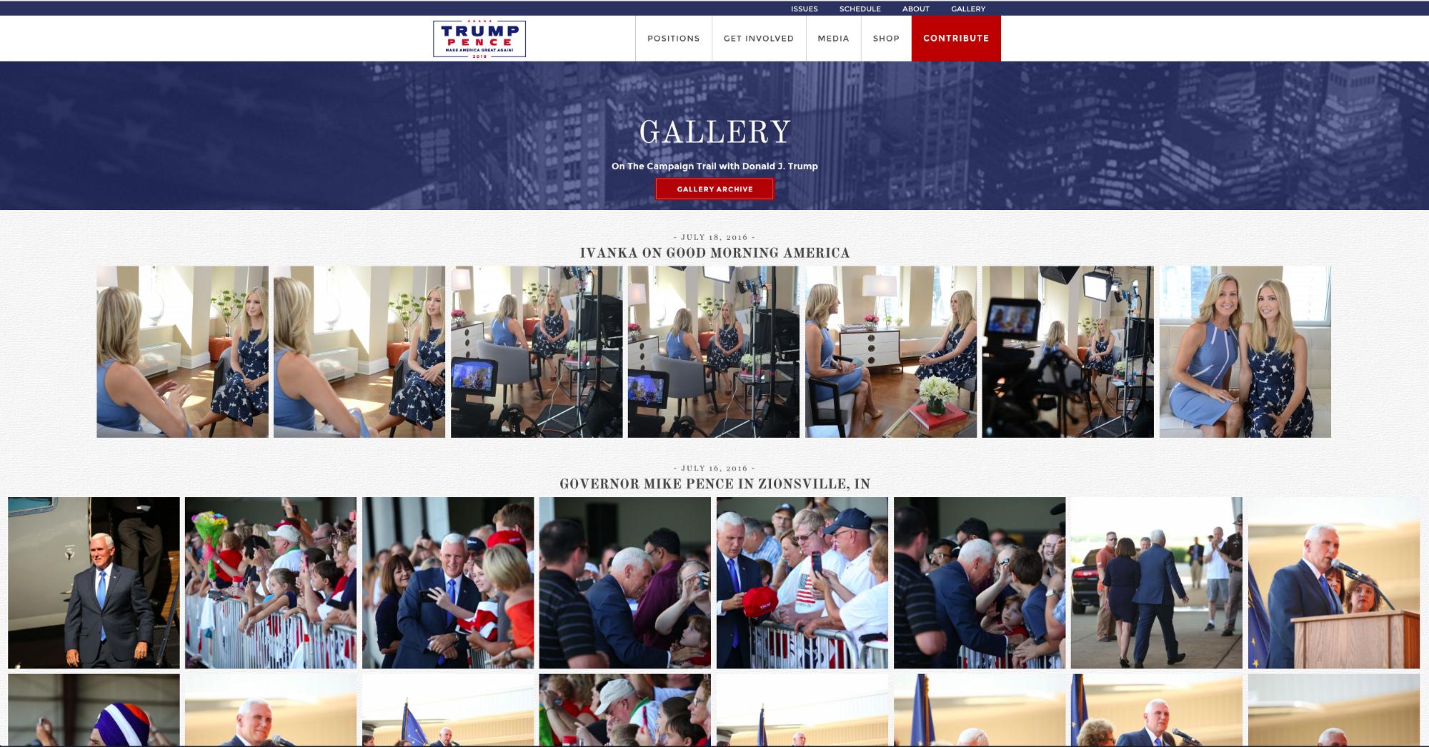 donald trump photo page
