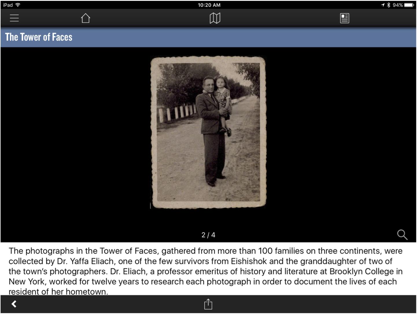 holocaust app visual cues