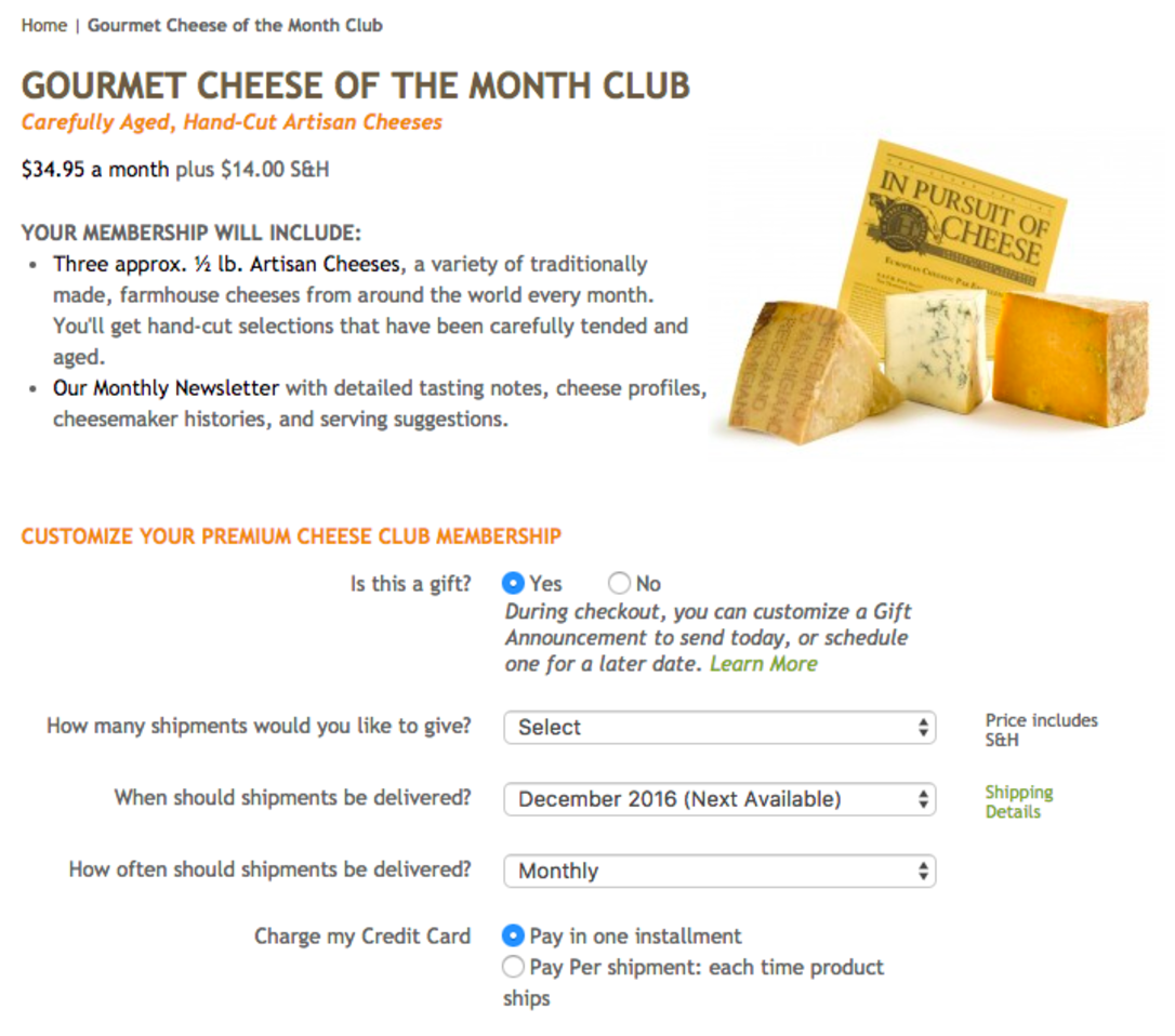 cheese club gift