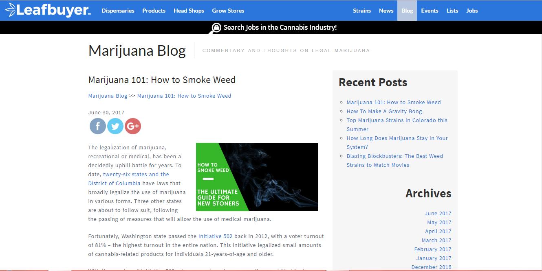 How to smoke weed - Tacoma dispensary Marketing