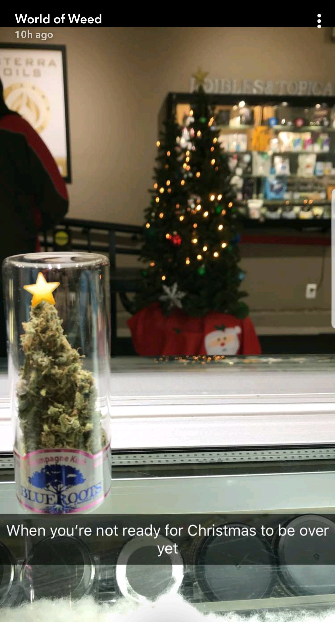 World of Weed in Tacoma shows how festive they are on Snapchat