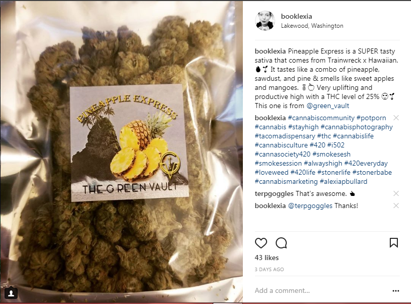 Look at that beautiful bag of Pineapple Express from The Green Vault