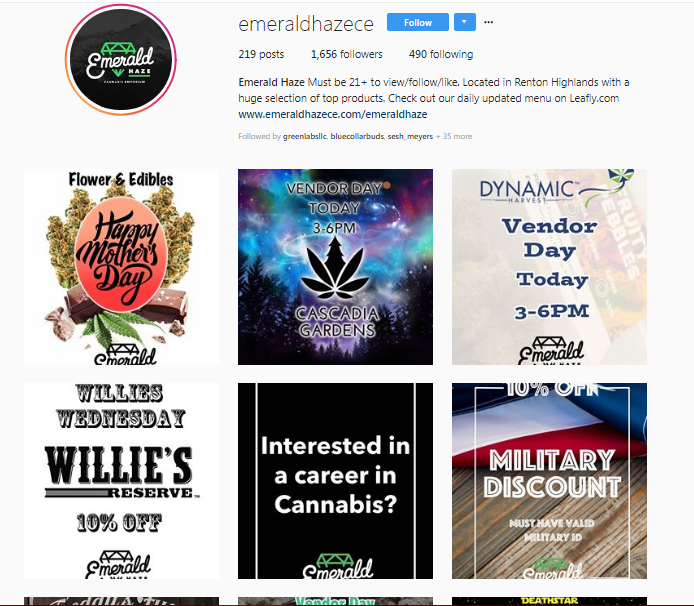 Emerald Haze is one dispensary that has the event announcement strategy covered.