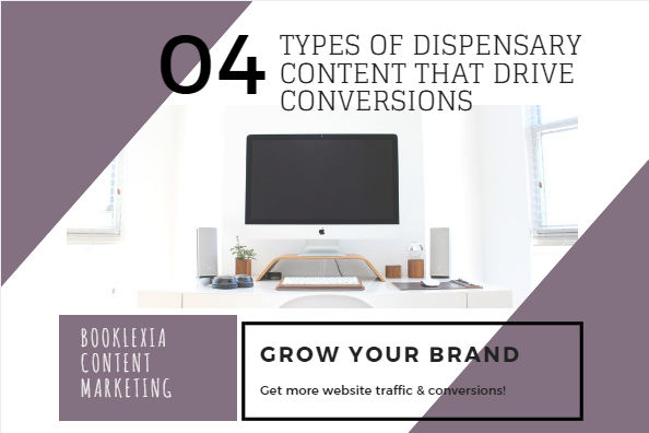Include these 04 essential dispensary content types in your content marketing strategy to drive website traffic and conversions.