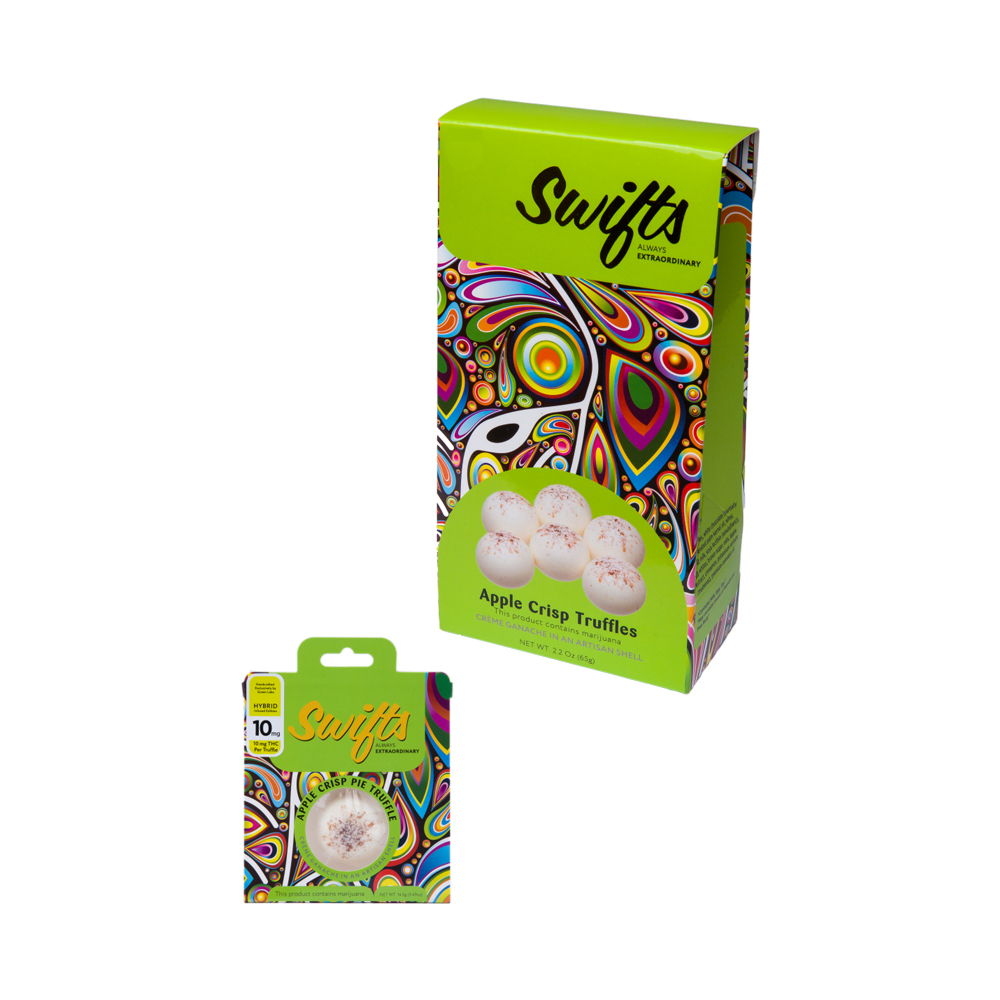 Decadent. Luxurious. Irresistible. Swifts Apple Crisp Truffles are some of the best marijuana edibles in Washington. Bite into a truffle, and you bite into summer.