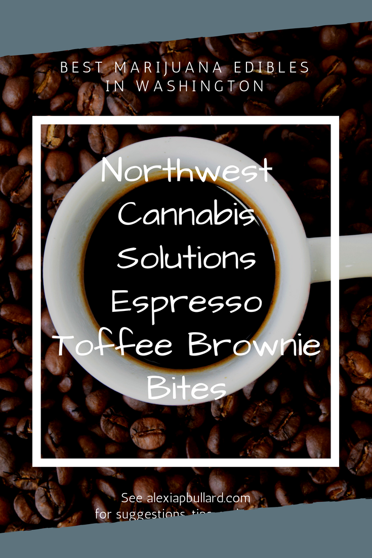 These Espresso Toffee Brownie Bites by Northwest Cannabis Solutions are some of the hardest cannabis-infused treats to ignore. They've definitely earned their place as one of the best marijuana edibles in Washington.