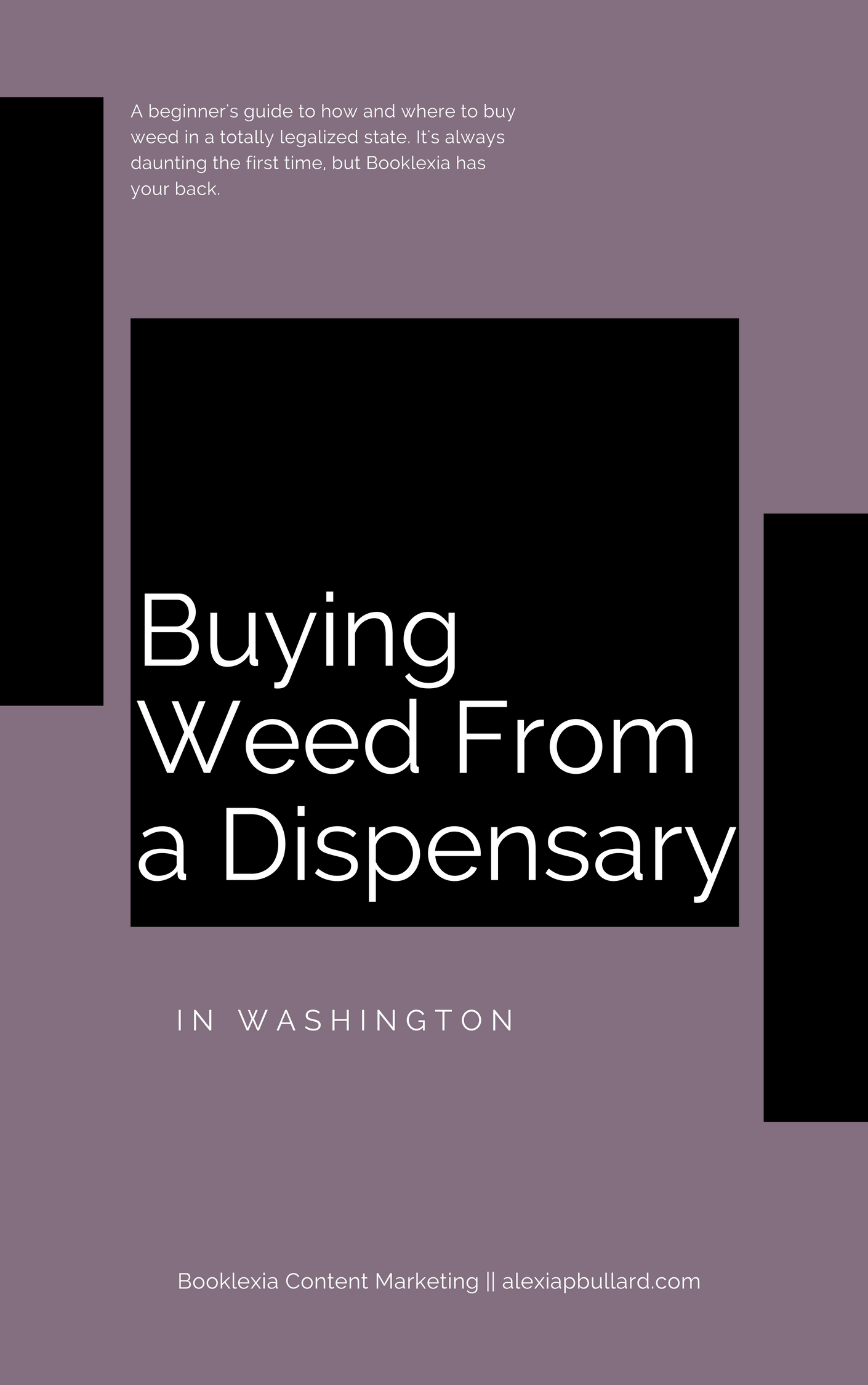 How To: Buying Weed From a Dispensary in Washington || Booklexia Content Marketing