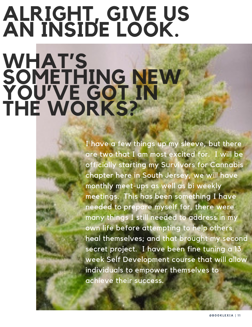 Women in Weed: Emily M.   Booklexia Content Marketing, cannabis content marketing