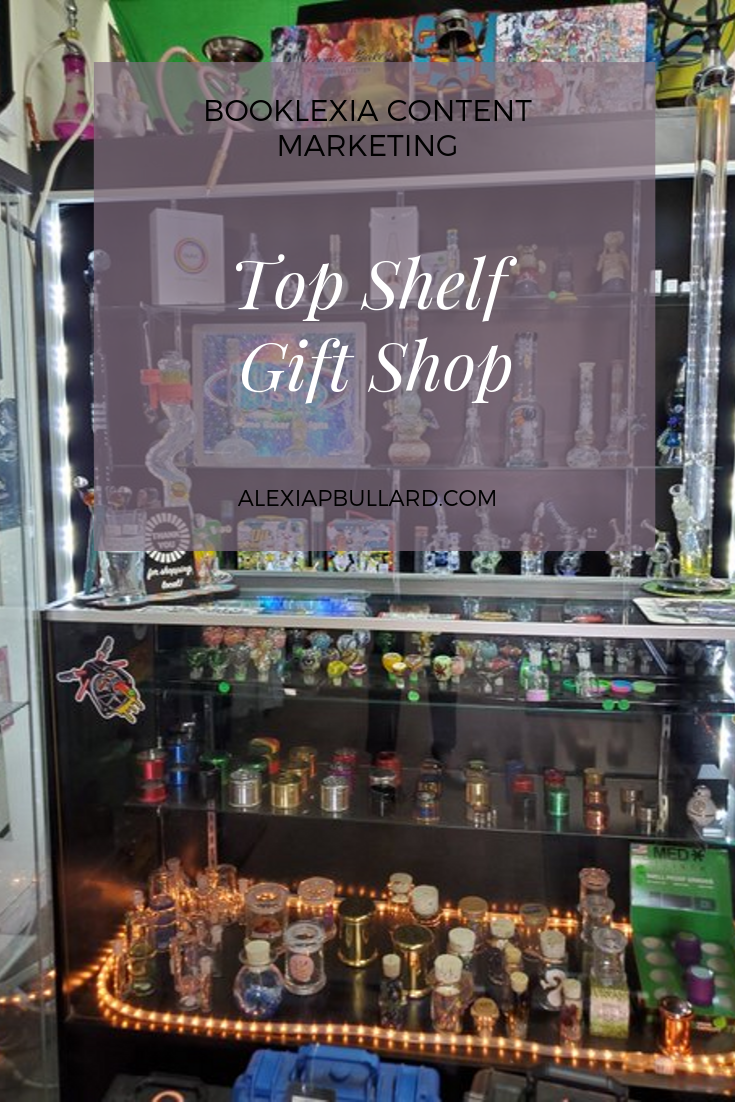 Top Shelf Gift Shop, located in Escondido, is one of the best head shops in San Diego. Check it out with this article from dispensary marketing professional, Alexia P. Bullard, Booklexia Content Marketing