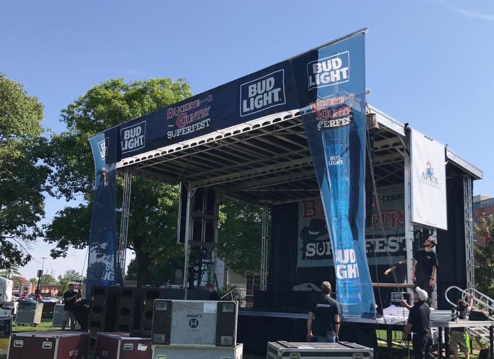 Stage Setup for Buckeye Country Superfest