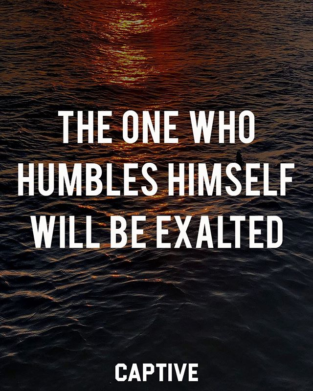 """I tell you, this man went down to his house justified, rather than the other. For everyone who exalts himself will be humbled, but the one who humbles himself will be exalted."""" ‭‭Luke‬ ‭18:14‬ • • Such a common lesson. One we've heard so many times yet we seem to forget over and over again. How easy it is for us to get caught up in ourselves through pride, but this is not the way we should go. In Luke 18:9-14 we are reading of a Pharisee and tax collector. Both who went to the temple to pray, but in very different ways. The Pharisee prayed a loud and proud prayer, boasting of his own righteousness, whereas the tax collected could not even look up to heaven as he prayed. He was humbled and grieved by his sin and asked for mercy. ▪️ Which of the two are you like? Notice how the tax collector ""went down to his house justified."" He wasn't justified by his good works, but by faith. He humbled himself, and God exalted him. Humble yourselves before the Lord, and he will lift you up, or exalt yourselves, and you will eventually be humbled and brought down. • • Follow @imcaptive for more! • • #scripture #wordofgod #biblestudy #biblejournaling #thebible #scriptures #scripturestudy #bibletime #faithquotes #faithblogger #dailydevotional #devotional #christians #christfollower #believers #believer #gospelcentered #holybible #lifestylebrand #christianbrand #scriptureverse #verseoftheday📖 #humility #setapart #jesuscopy #bibleblogger #lifestyle #wisdomquotes"