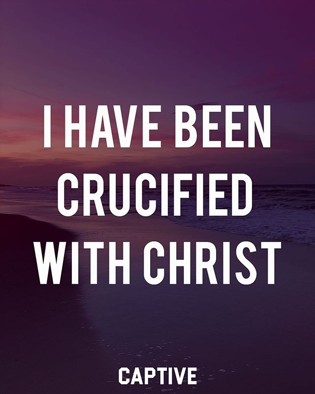 """I have been crucified with Christ. It is no longer I who live, but Christ who lives in me. And the life I now live in the flesh I live by faith in the Son of God, who loved me and gave himself for me."" ‭‭Galatians‬ ‭2:20‬ • • To have salvation in the Lord means that the Christian has shared in Christ's crucifixion and his victory over sin and death. When one finds salvation in Christ, they die to their sin and their old selves. This is an amazing and important truth! Sin no longer enslaves the one who is in Christ, for that life is gone. (Romans 6:2-11) ▪️ Now, ""it is no longer I who live, but Christ who lives in me."" Instead of a life marked by sin, the believer lives a life empowered by Christ. There has to be a difference! We die to sin, and are made alive in Christ, who loved us and died for us. Praise the Lord! • • Follow @imcaptive for more! • • #scripture #wordofgod #scriptures #scripturestudy #biblestudy #bibleposts #faithblogger #faithandfashion #jesuscopy #believers #christfollower #lifestylebrand #gospeltalk #faithjourney #bibleversedaily #bibleverses #biblescripture #bibletime #dailydevotional #devotions #dailydevotion #godquotes #godswords #biblical #christiantshirt #faithapparel #motivationdaily #motivatedaily #dailybible #dailydose"