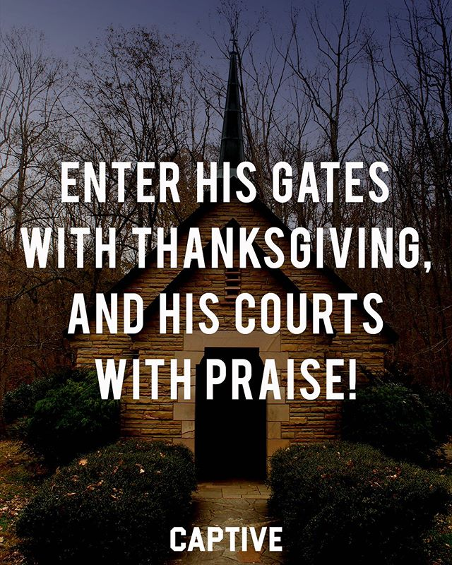 """Enter his gates with thanksgiving, and his courts with praise! Give thanks to him; bless his name! For the Lord is good; his steadfast love endures forever, and his faithfulness to all generations."" ‭‭Psalms‬ ‭100:4-5‬ • • What a privilege we have to be in the presence of the Lord. To have a relationship with Him. Notice how we should come, with thanksgiving and praise. Not trying to get something for ourselves, but with thankfulness for what He has already done for us. With praise for who he is. ▪️ The Lord is good. He is the example of perfect goodness. He is the source of all good. His love never fails and he remains faithful in keeping his promises. Go to the Lord today, and thank Him for what He has done. Praise His for His goodness. • • Follow @imcaptive for more! • • #scriptures #wordofgod #biblejournaling #biblequotes #biblestudy #faithquotes #faithblogger #faithblog #jesuscopy #dailydevotional #devotional #devotionals #christians #believers #christfollower #morningdevotion #dailydevo #setapart #oursavior #christiantshirt #bibletime #scriptureverse #verseoftheday📖 #gospelcentered #jesusculture #faithbased #biblestudymoments #believer"