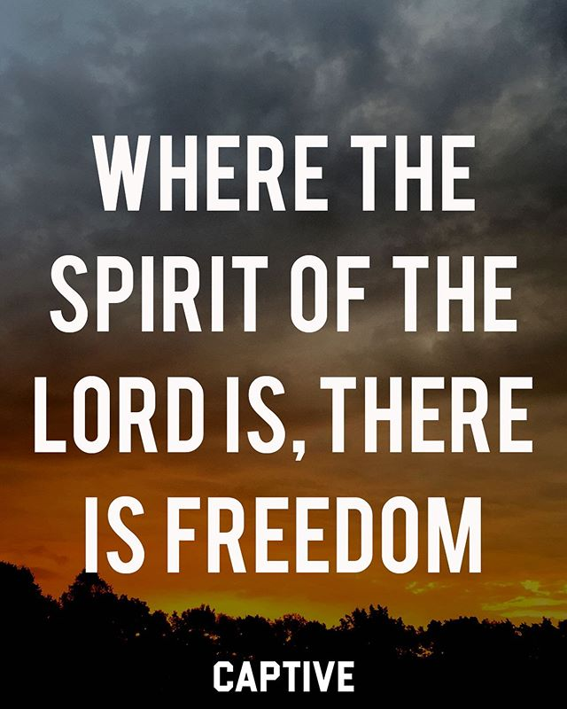 """Now the Lord is the Spirit, and where the Spirit of the Lord is, there is freedom."" ‭‭2 Corinthians‬ ‭3:17‬ • • What a gift and privilege it is to have freedom. Freedom to live in ways we like. Freedom to do many things others never get to do. We have been given much freedom, however, there is a freedom that many people never get to experience. True freedom is only found through the Lord Jesus Christ. ▪️ Freedom from the bondage of sin and death is the hope of every believer who is in Christ and has the Holy Spirit in them. In 2 Corinthians 3, we see how we have freedom from trying to earn righteousness by keeping the law, for this only leads away from freedom. Praise God for freeing us through His son Jesus Christ. Believe today, and you will find true freedom. • • Follow @imcaptive for more. • • #scriptures #wordofgod #freedomisntfree #freeindeed #biblestudy #biblestudynotes #bibletime #thebible #devotions #devotional #dailydevotional #morningdevotional #faithart #faithblog #setapart #faithbloggers #jesuscopy #jesusculture #jesusloves #bibleverses #christians #believers #christfollower #christfollowers #unashamed #lifestylebrand #faithinspired #gospelcentered #christiantshirt #imcaptive"