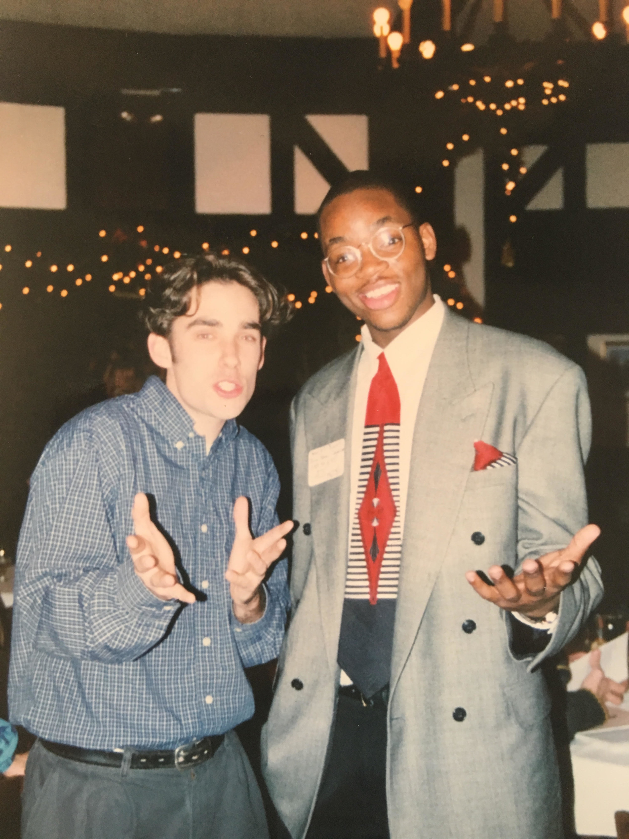 Jonah   Wittkamper and fellow Camp Rising Sun alumnus Aaron Jenkins ('96, '97) at a CRS event.