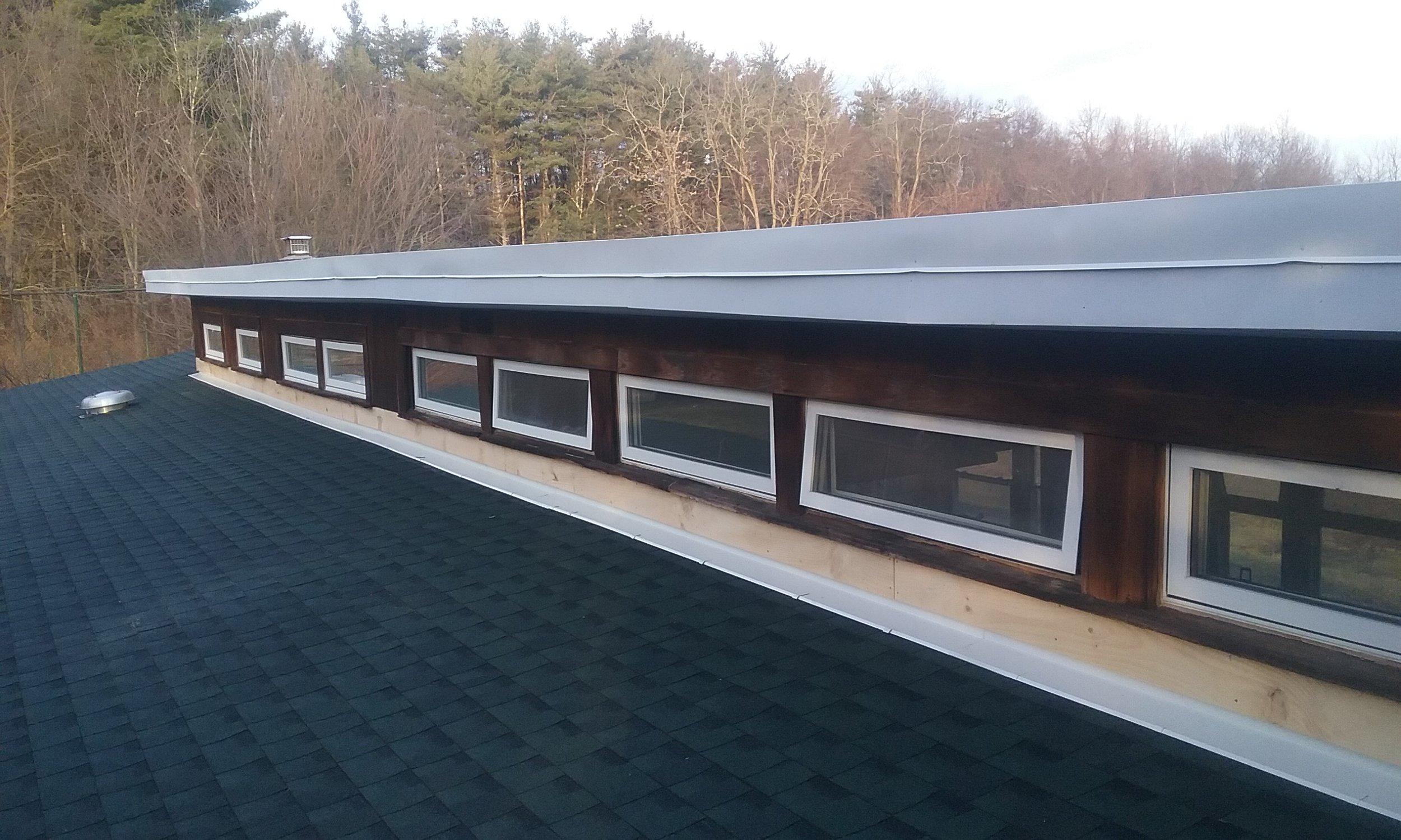 New roof on ED Hall.