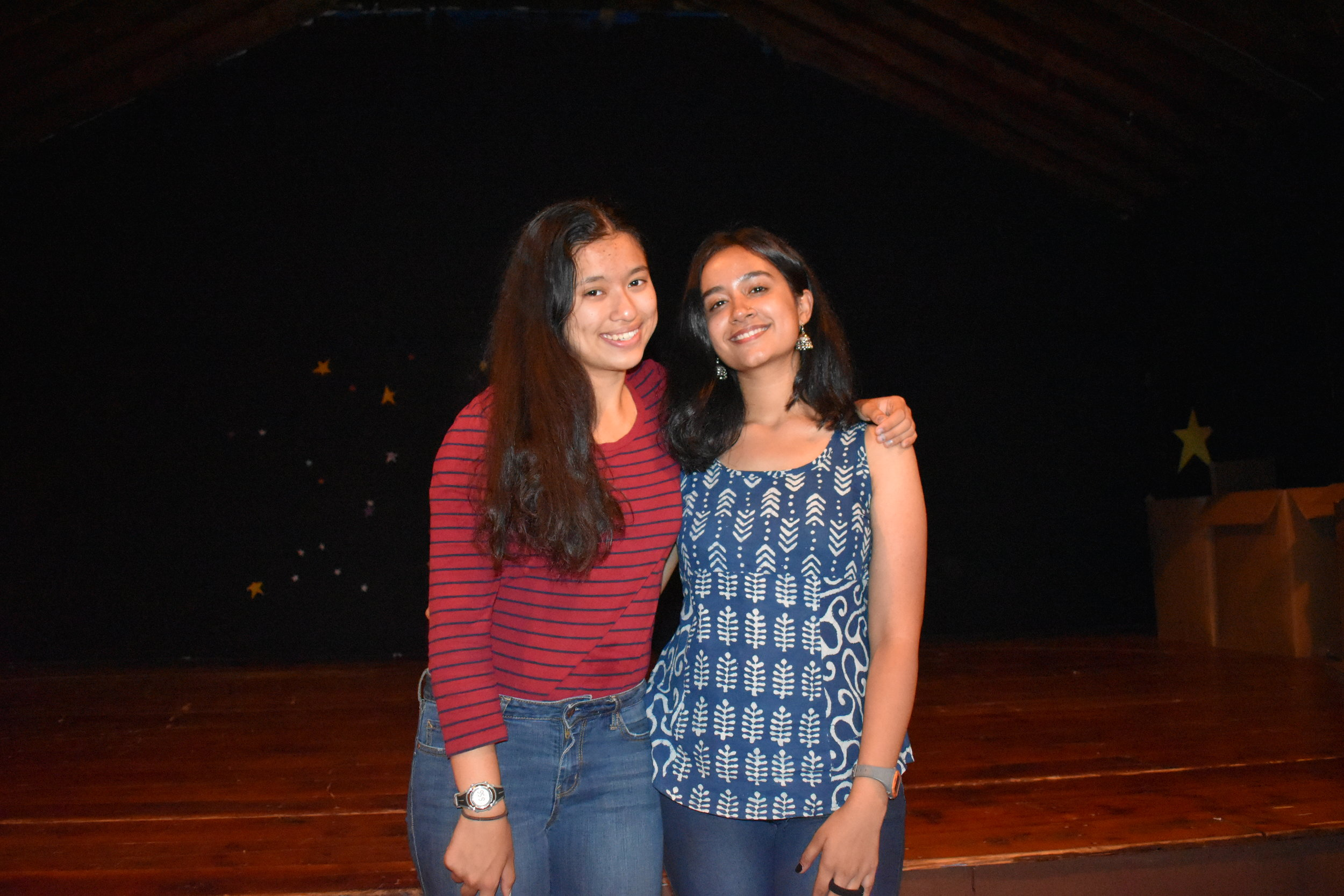 First pair of first year leaders: Maya and Mahi!