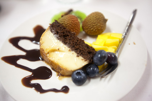 Flan Chocolate Cake (French and Vietnamese)